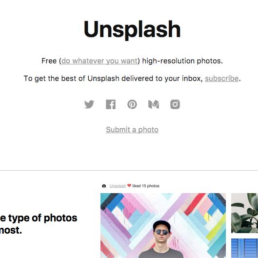 Unsplash   The best free, high-resolution stock photos
