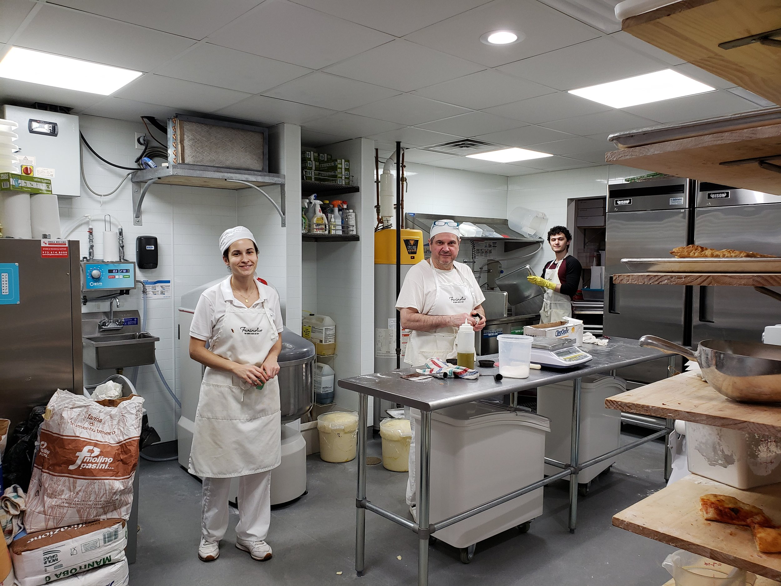 Head Baker Tonino Salvatori and his staff