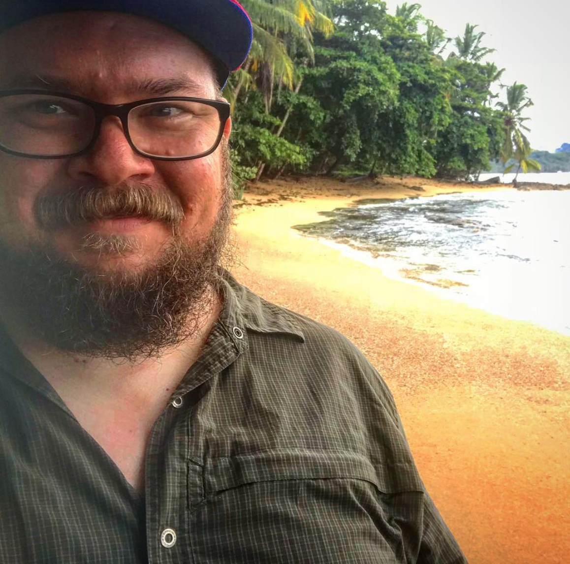 Jake on the beach in Limon Costa Rica