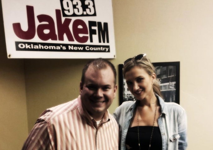 The author with country artist Sarah Darling - Photo taken at Tyler Media.