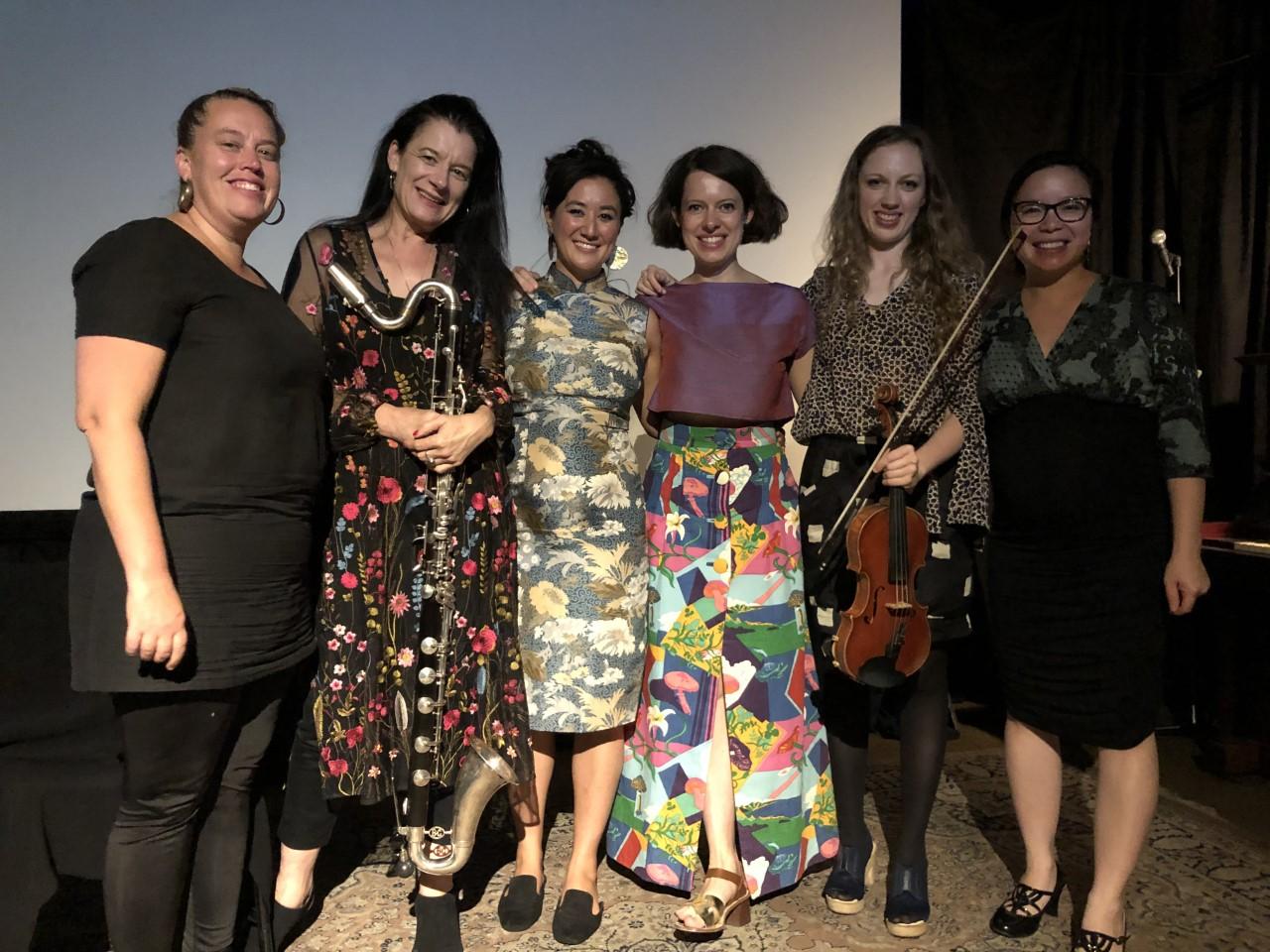 Gemma Horbury, Brigid Burke, Teresa Duddy, Alexandra Mathew, Isabel Hede, Kay Cai (L-R)
