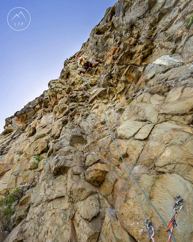 @timtamadventureman off into the steepest sections of Aphelion (22) at Mt Tibrogargan.  #queensland #Climbing #australia #outdoors #noosa #newyearseve