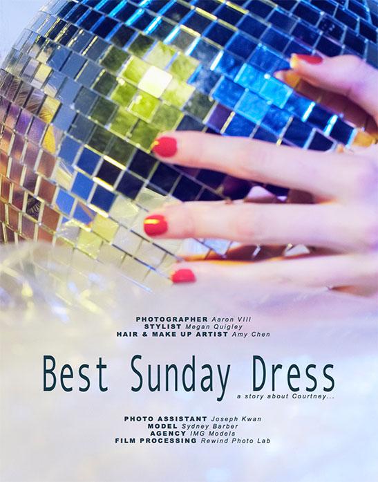 BEST SUNDAY DRESS                      FEN HONG SE MAGAZINE ISSUE 2, MARCH 2018