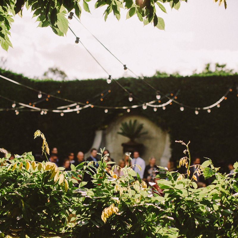 COURTYARD - Romantic & intimate, ideal for a wedding ceremony and drinks. A striking outdoor space with festoon lighting, bronze fountain & pop-up bars.