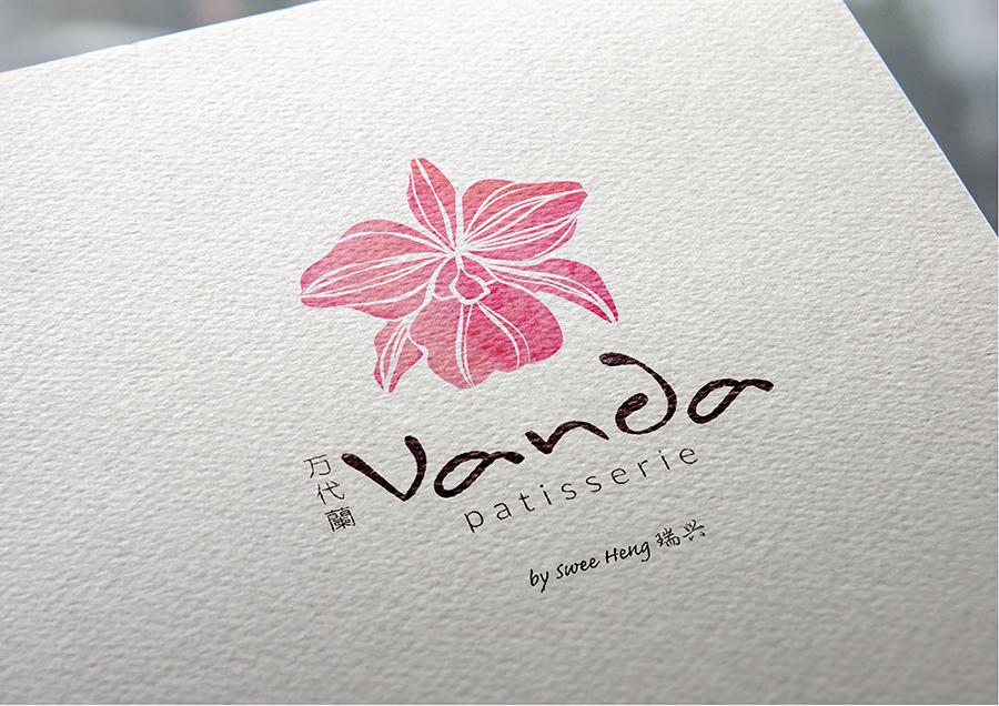 Vanda Patisserie bakery Logo design 1.jpg