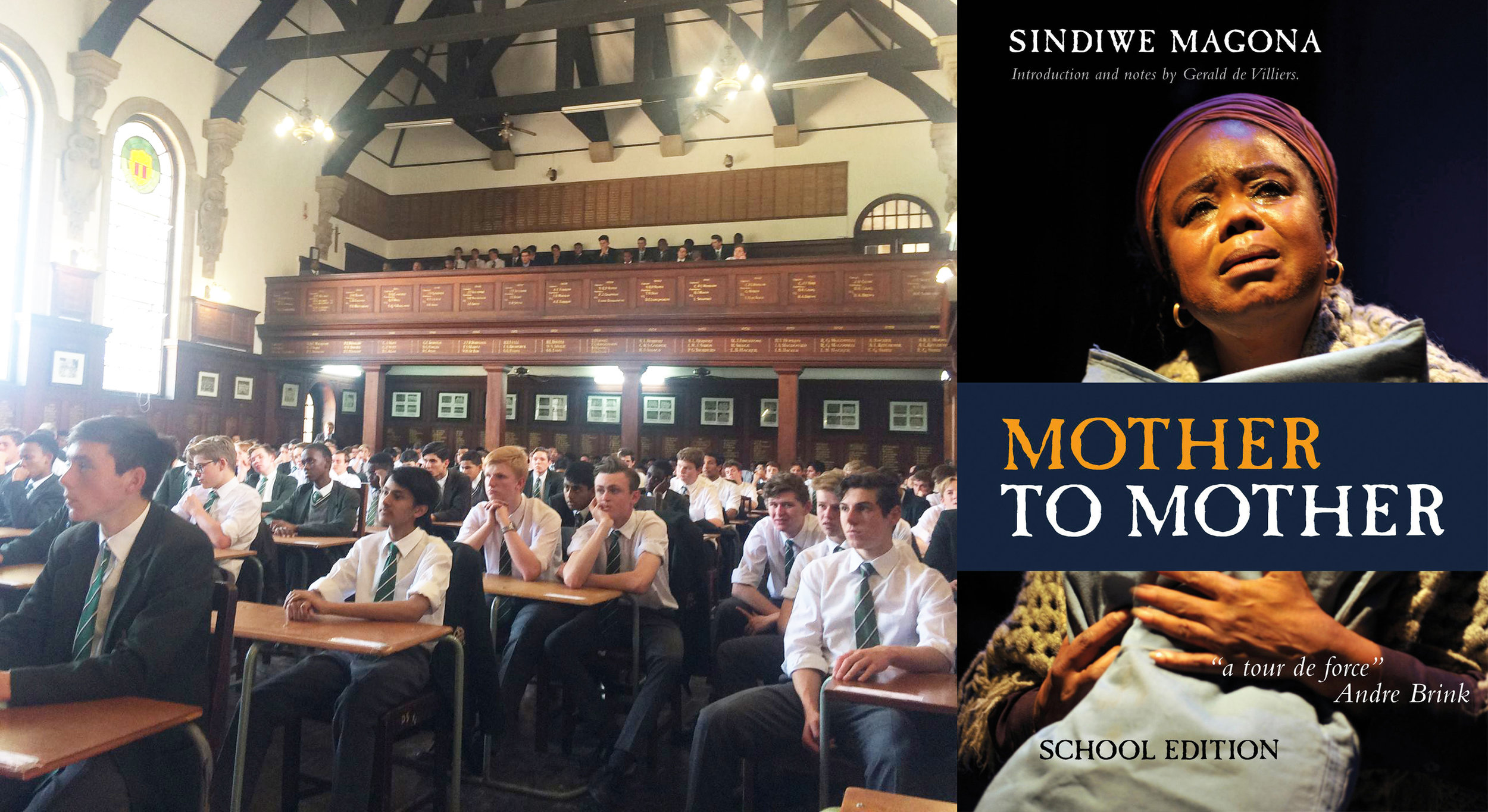 Grade 10 learners at King Edward listen to Magona talk about her book,  Mother to Mother.