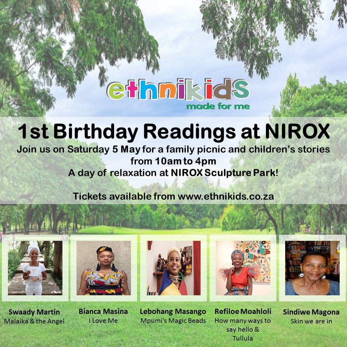 Ethnikids first birthday at NIROX with Sindiwe Magona