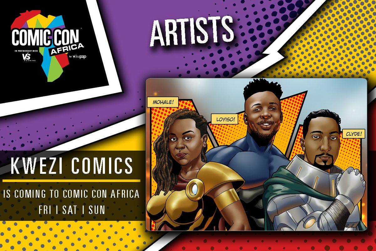 Kwezi Comic Con Africa Mohale Mashigo Clyde Beech Loyiso Mkize South Africa