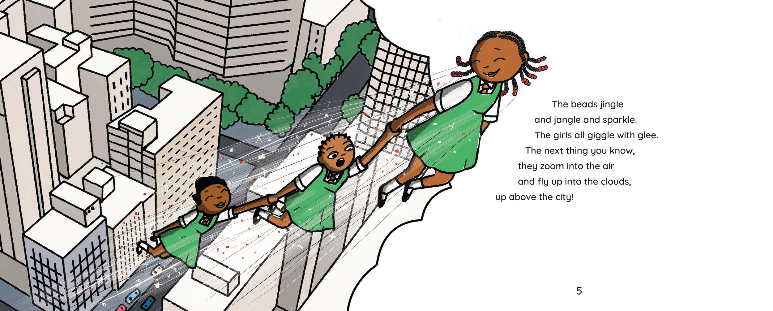 A sneak peek inside the delightful children's book,   Mpumi's Magic Beads   by Lebohang Masango.