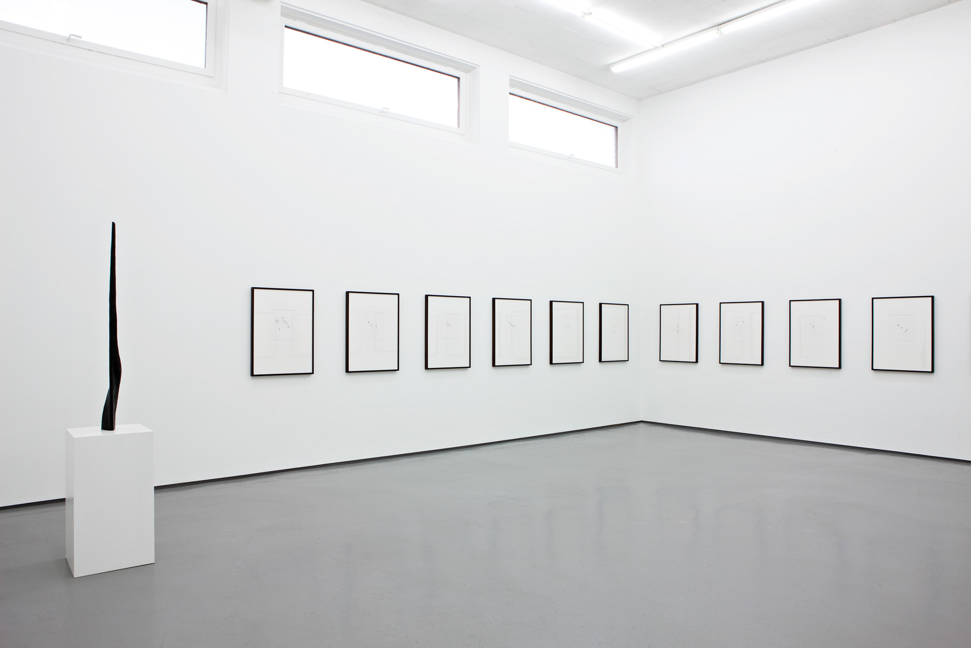 Installation view Jan Groth, New Drawings, Galleri Riis, Oslo, 2012