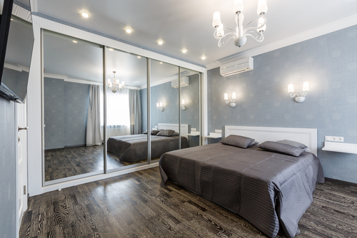 MIRRORED WARDROBES - New mirrored or frosted wardrobe doors can be custom-made to fit your bedroom. Mirrored wardrobe doors installed in your bedroom will make it look twice the size.  Get a quote now.