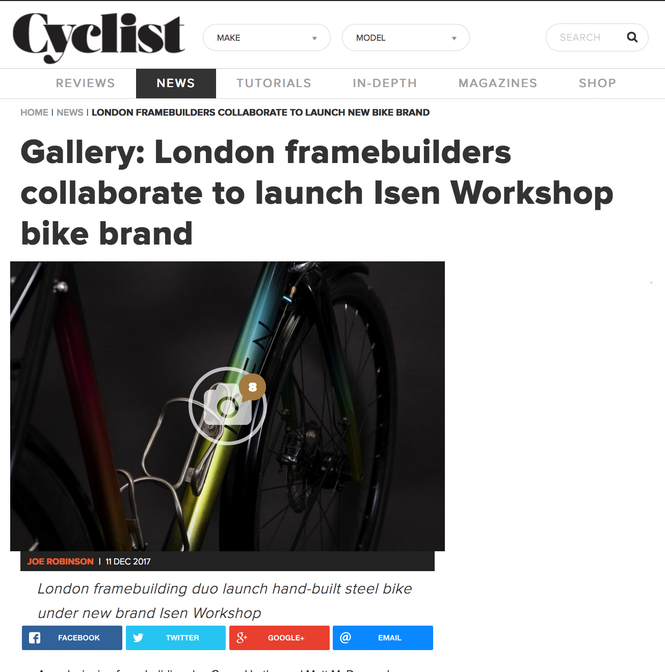 Cyclist   London Framebuilders Collaborate