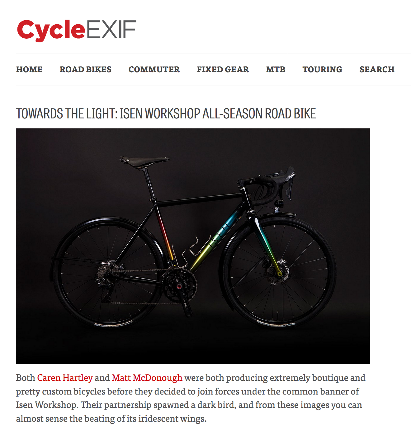 Cycle EXIF   Towards The Light: Isen Workshop