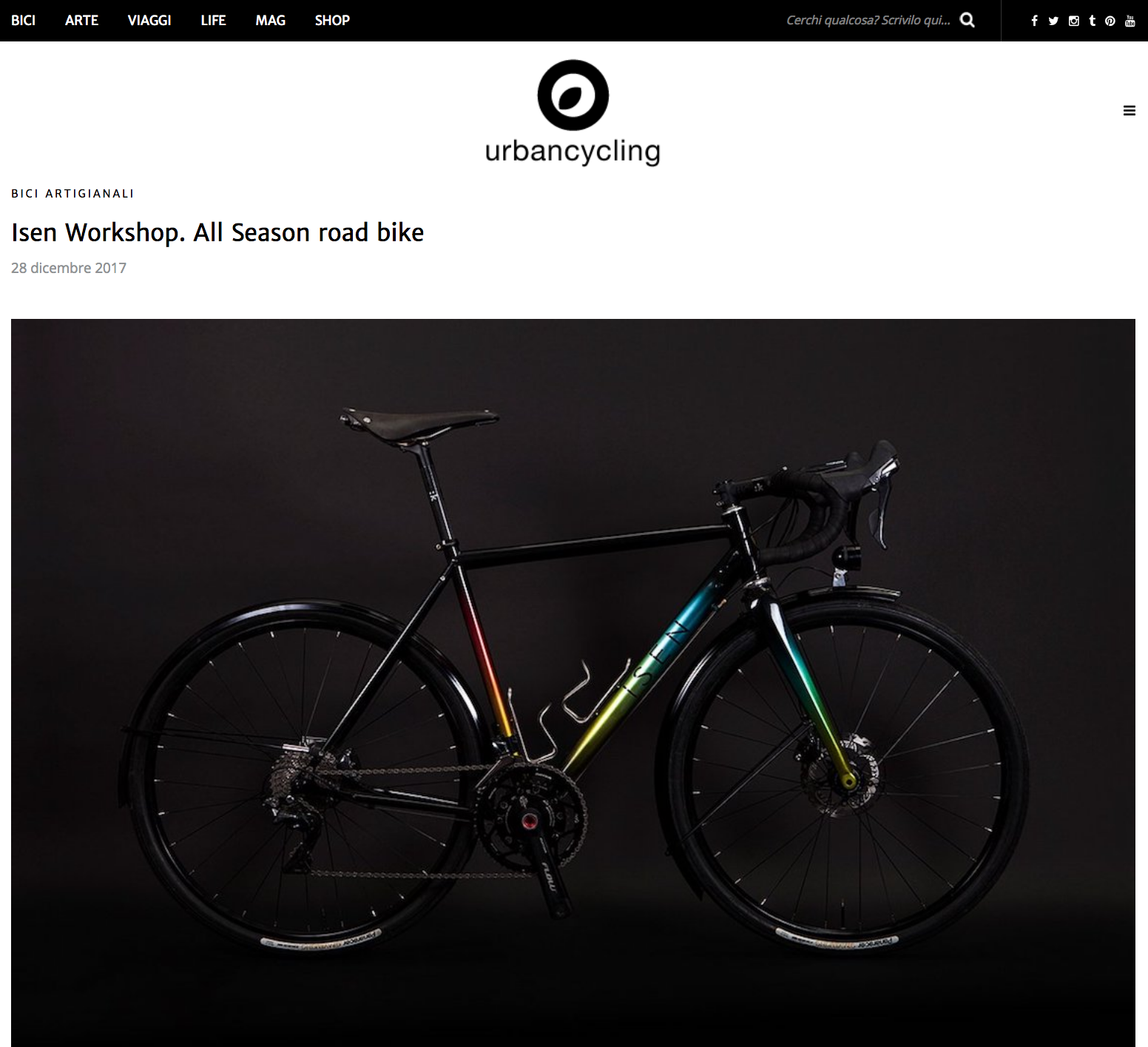 Urbancycling   Isen Workshop: All Season Road Bike
