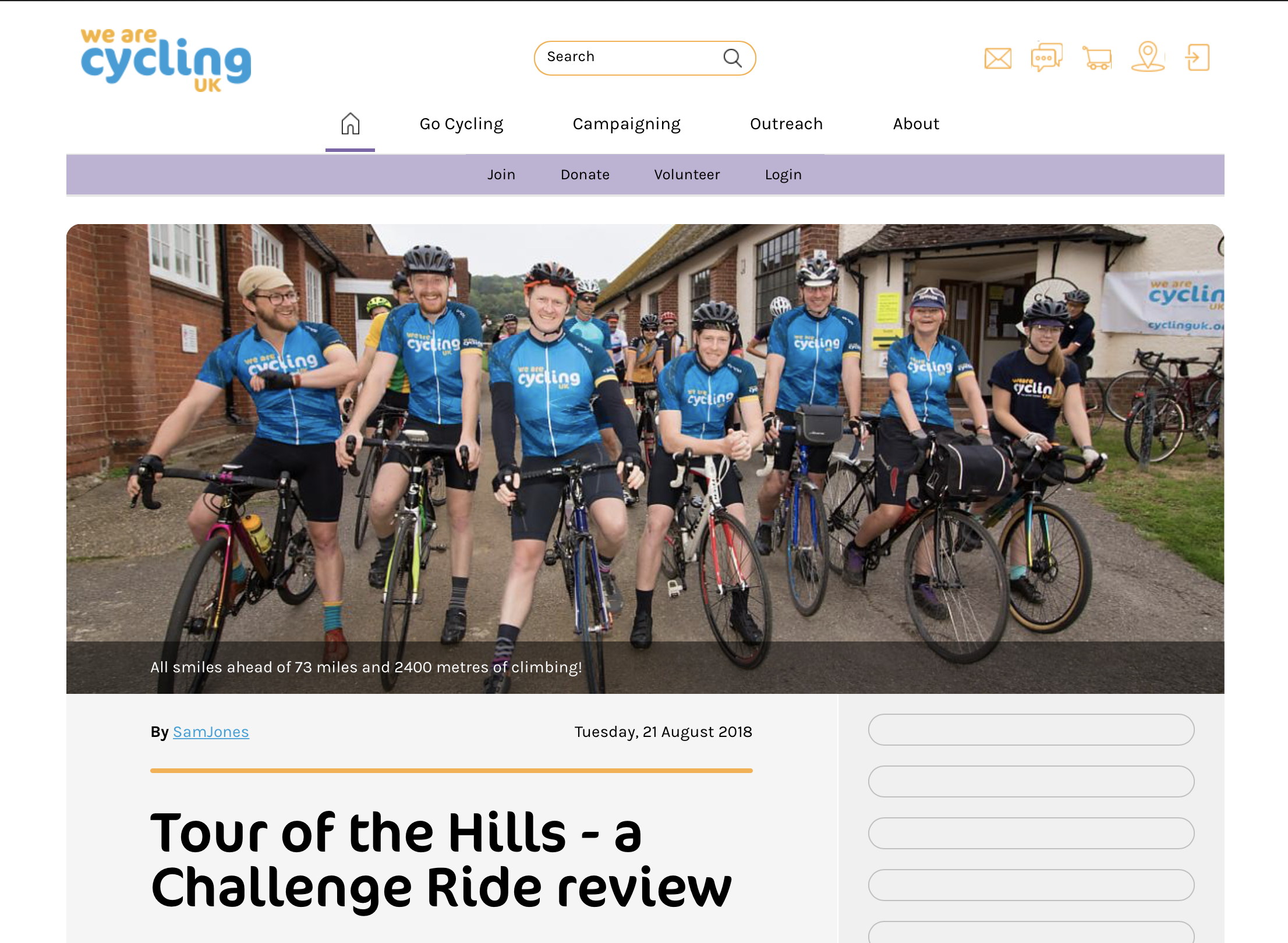 CyclingUK   Tour of the Hills