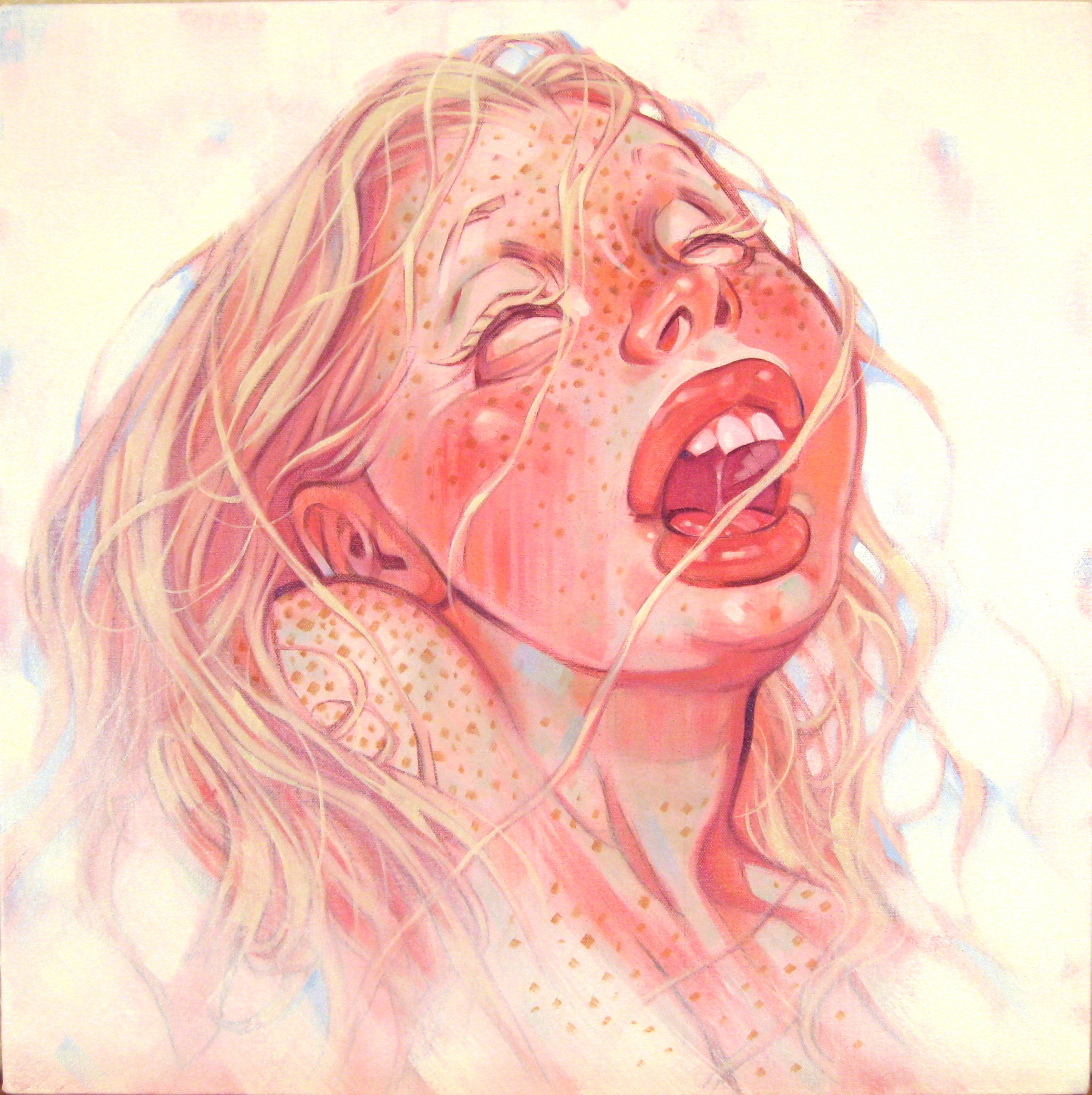 Ecstasy, 2009, oil on canvas, 20 x 20 inches, by Taiyo la Paix