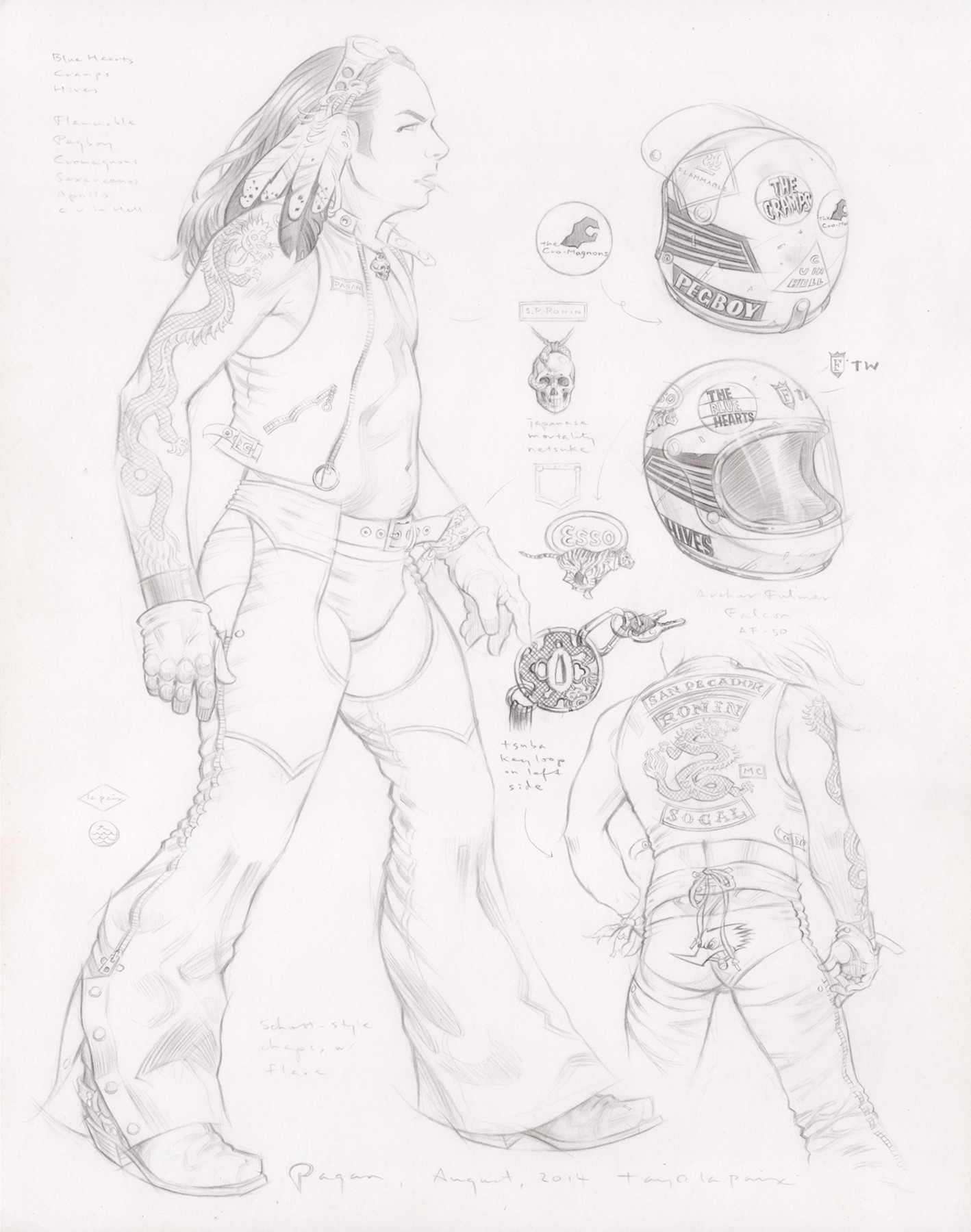 Pagan, 2014, pencil on paper, 14 x 11 inches