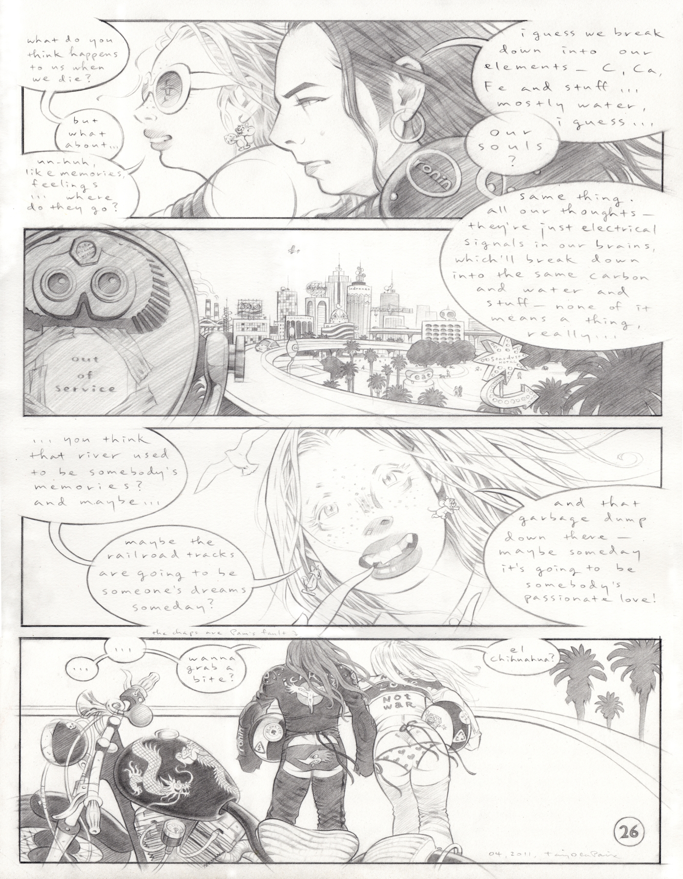 Page 26, 2011, pencil on paper, 17 x 13 inches, private collection