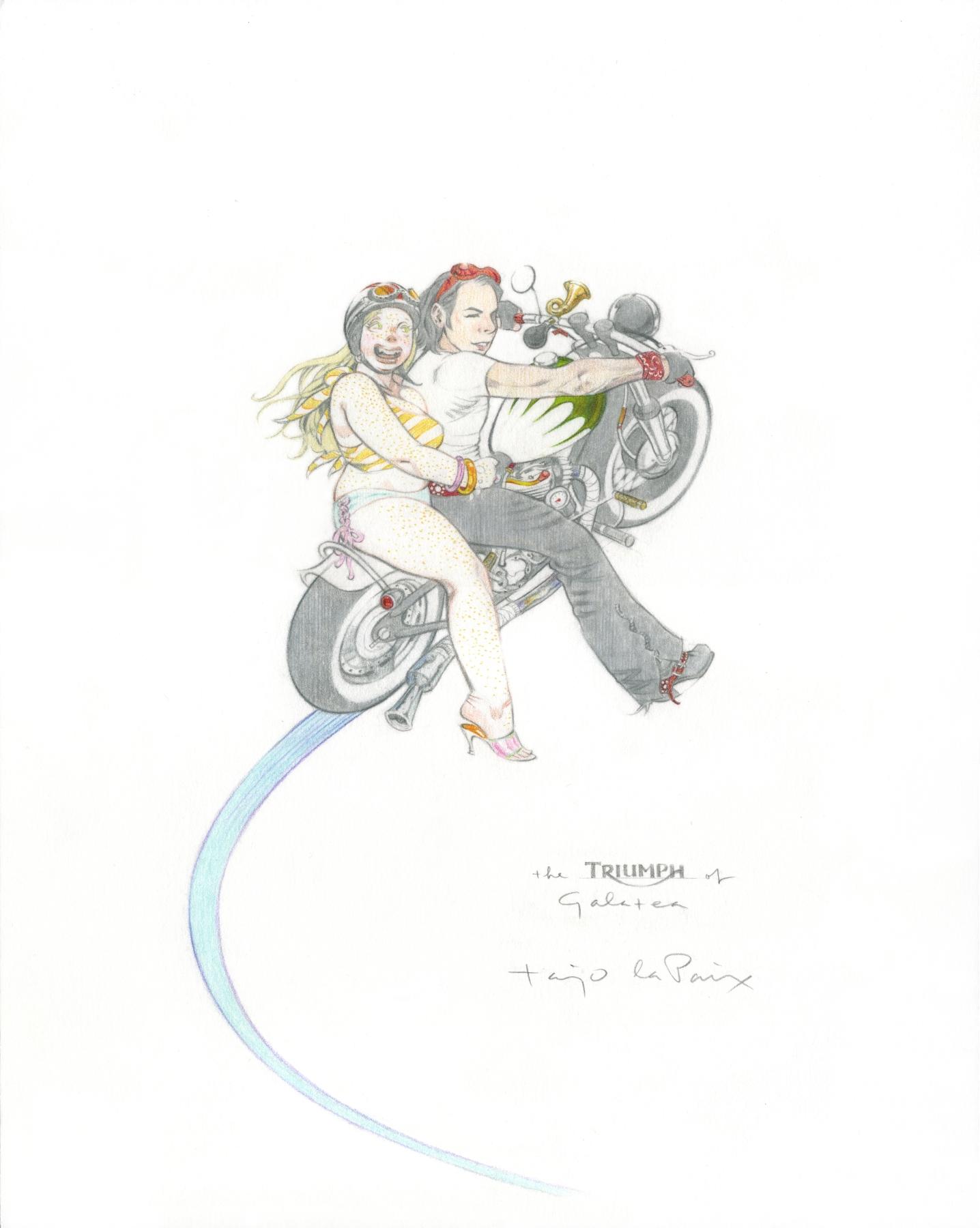 Triumph of Galatea, the, 2007, pencil on paper, 13 x 10 inches,  courtesy of Steven Matijcio