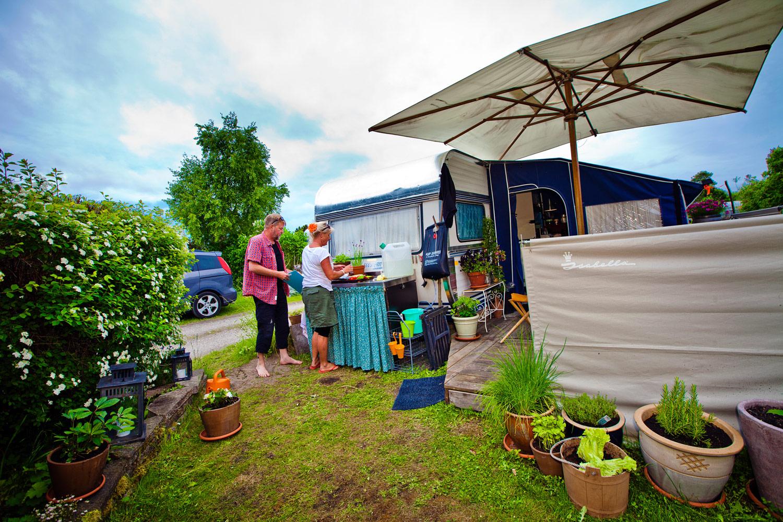 Henrik og Maj Britt Kehler er fastliggere på Lynæs Camping i Hundested