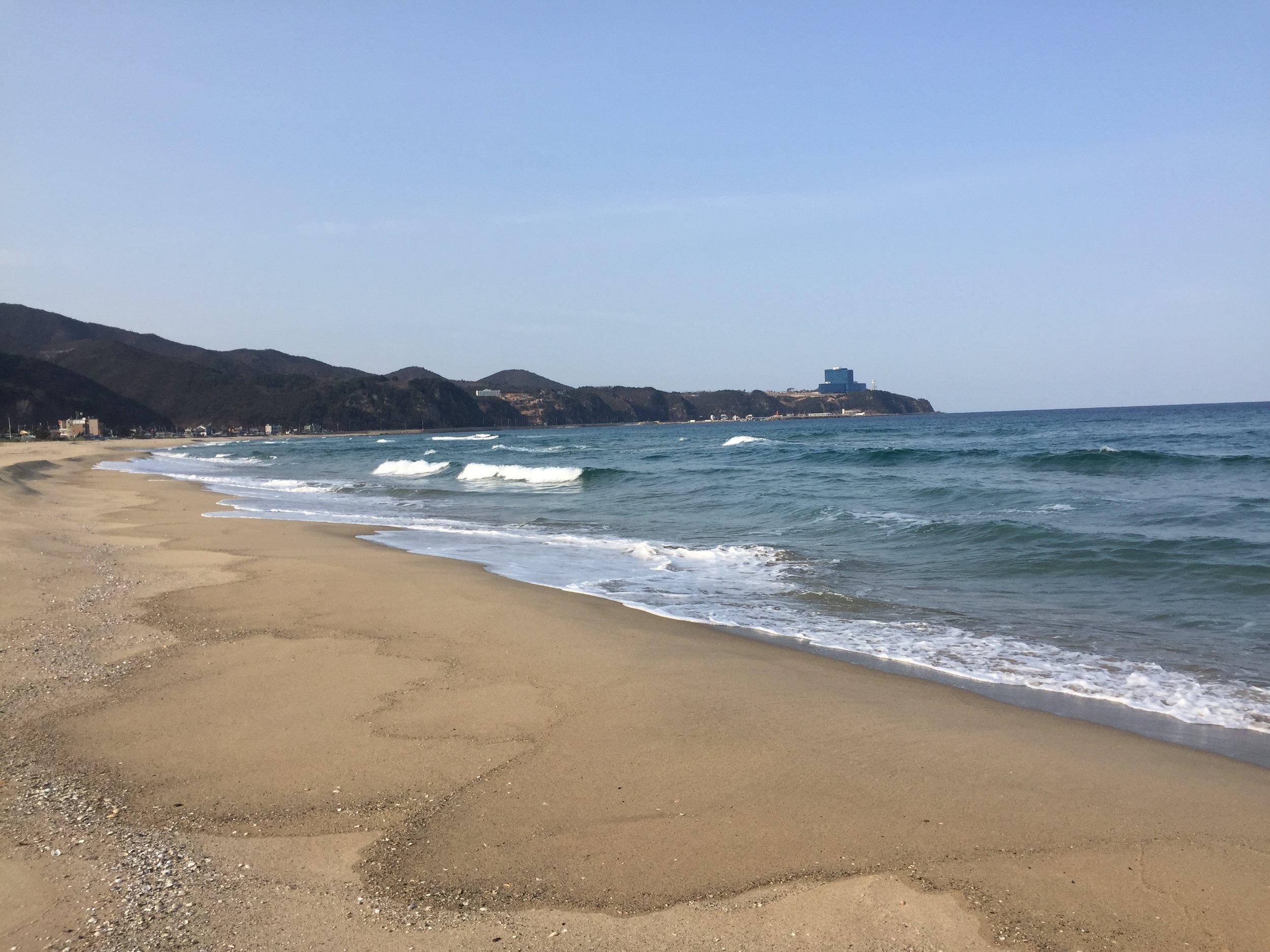 Pláž v Gangneungu