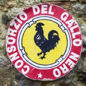 Simbolo del consorzio del gallo nero (odierno consorzio chianti classico) fino al 1991
