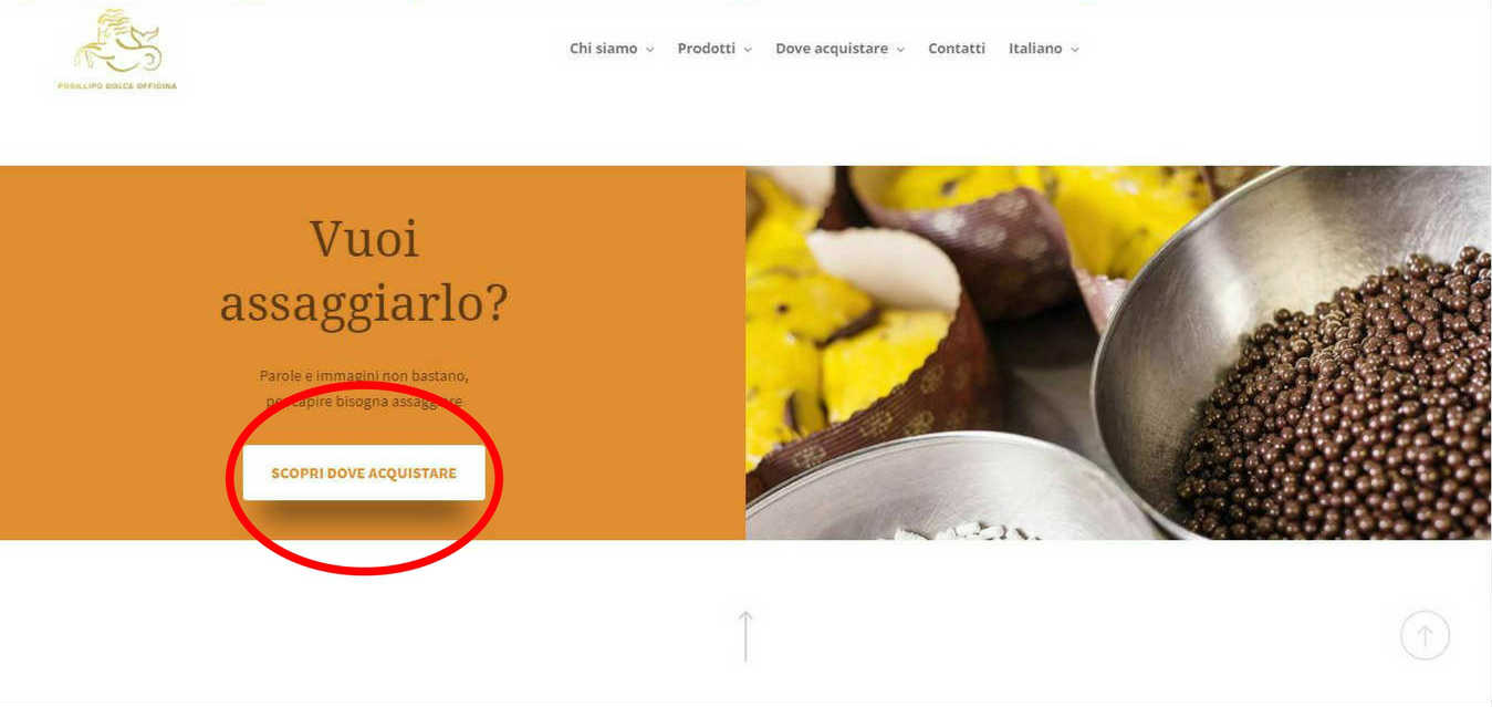 CALL TO ACTION su pagina di prodotto