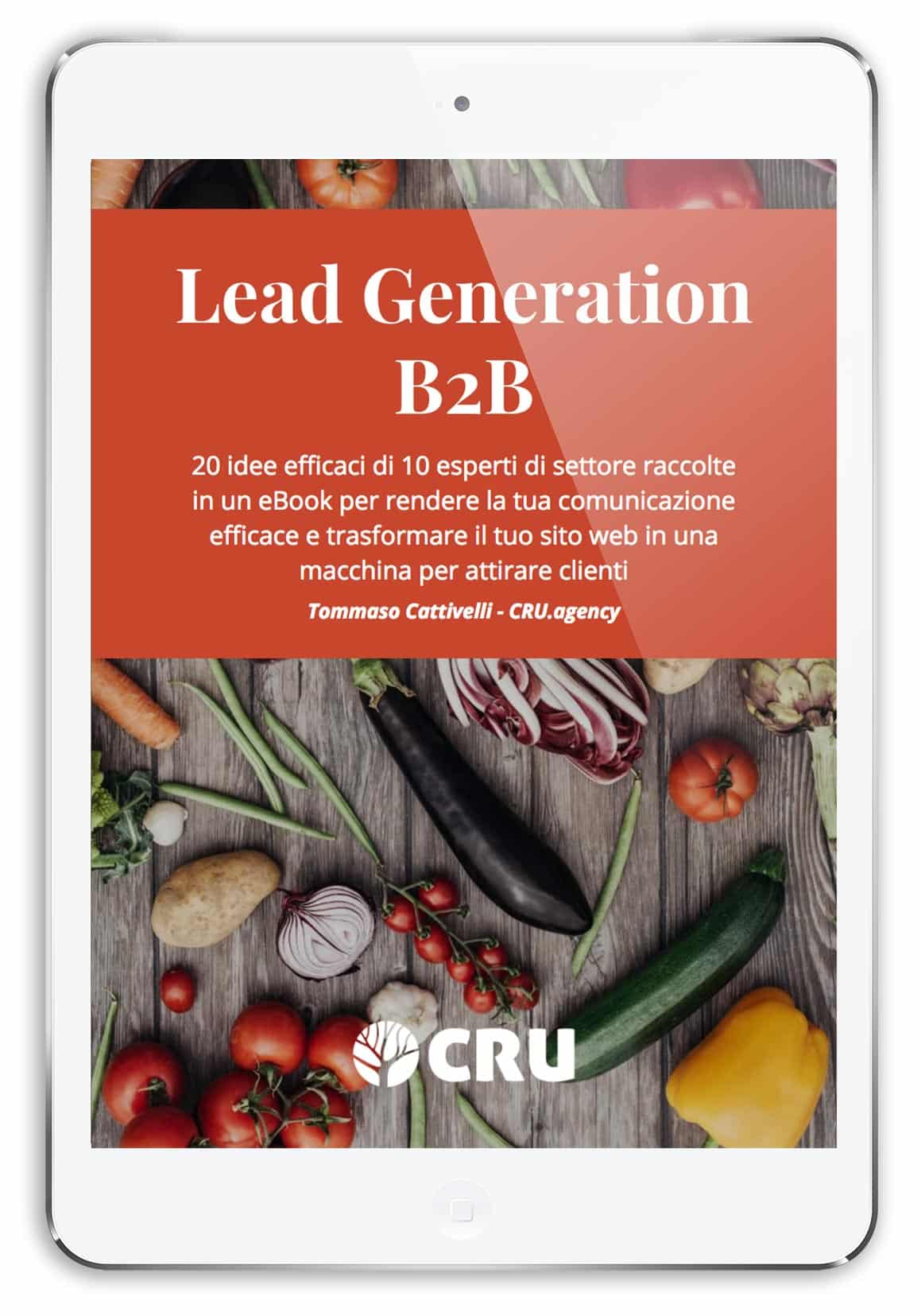 offerta di contenuto: ebook sulla raccolta di contatti b2b per il settore food e wine