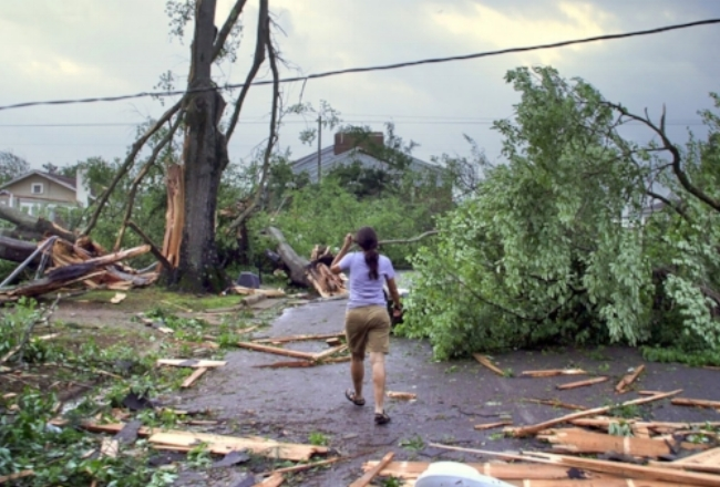 The island of Vieques ravaged after Hurricane Maria