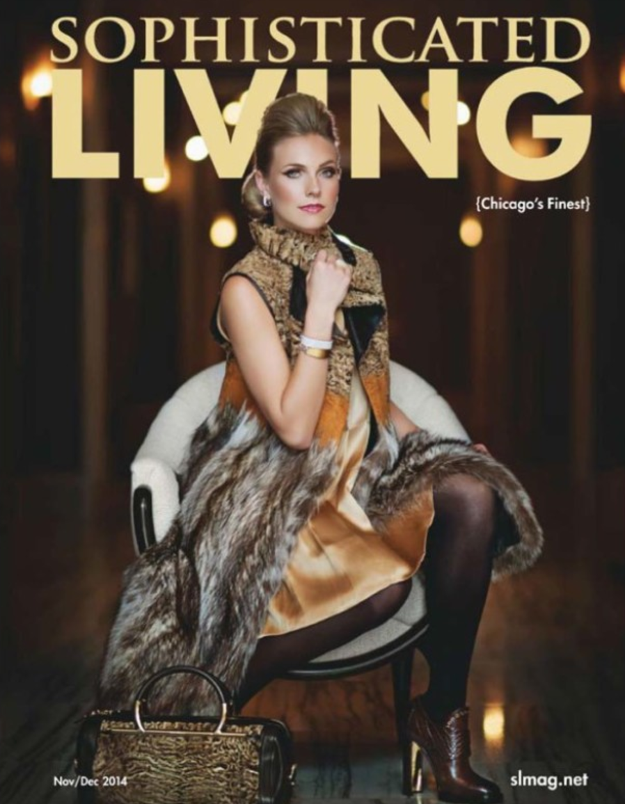 October 2014 Cover of  Sophisticated Living  magazine, Hair by Emilio Rivera & Scott Wilker.