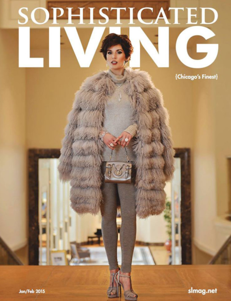January 2015 Cover of  Sophisticated Living  magazine, Hair by Emilio Rivera & Scott Wilker.