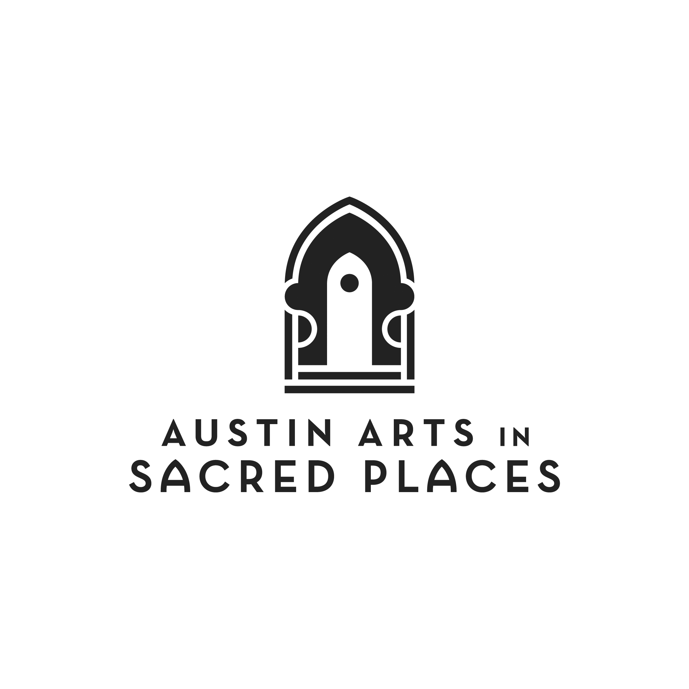 Austin Arts in Sacred Places Logo BW small.png