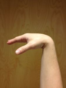 Wrist flexion (right hand)