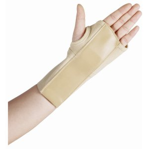 One of many options for bracing the wrist during the acute/inflammatory phase