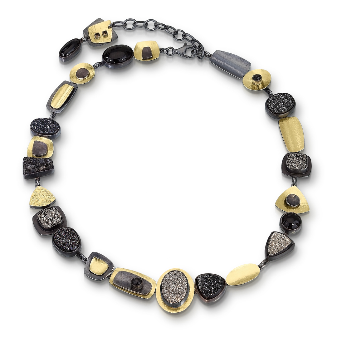 Black Drusy Totm Necklace - Lynn Harrisberger Jewelry