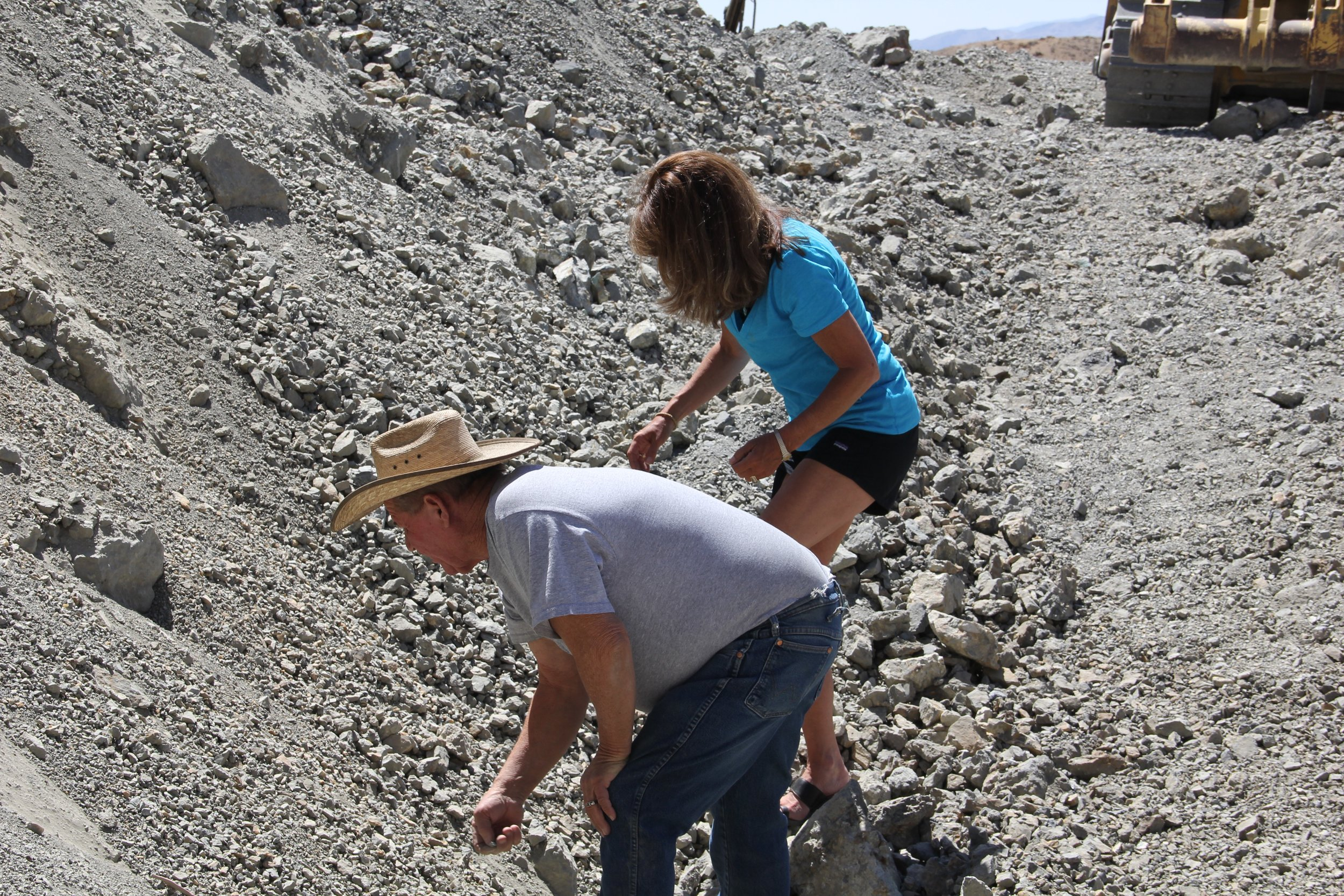 Dean and I at The Blue Moon Mine