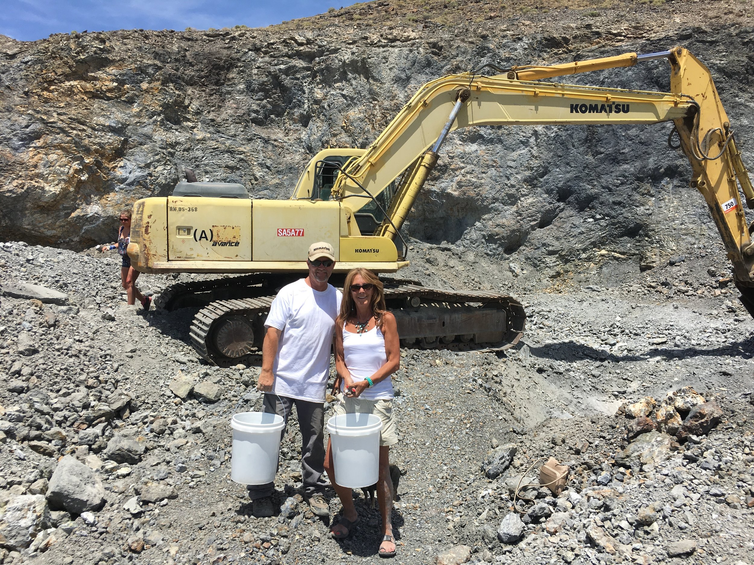 Danny Otteson & Lynn Harrisberger At The Blue Moon Mine