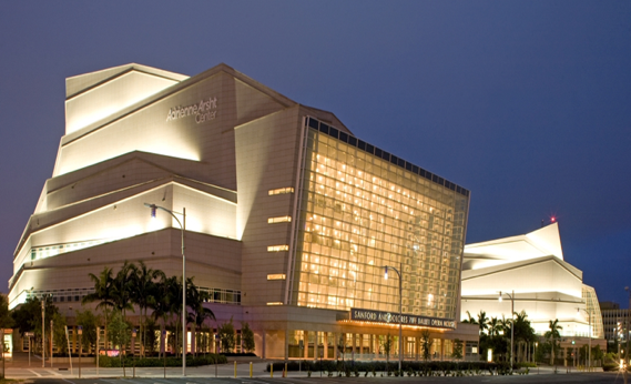 Adrienne Arsht Center for the Performing Arts -  Ziff Ballet Opera House - 2,400 seatsJohn S. and James L. Knight Concert Hall- 2,200 seatsCarnival Studio Theater – 250 seatsResident Companies – New World Symphony, Florida Grand Opera, Miami City BalletOpened 2006Full service janitorial, set ups/tear downs