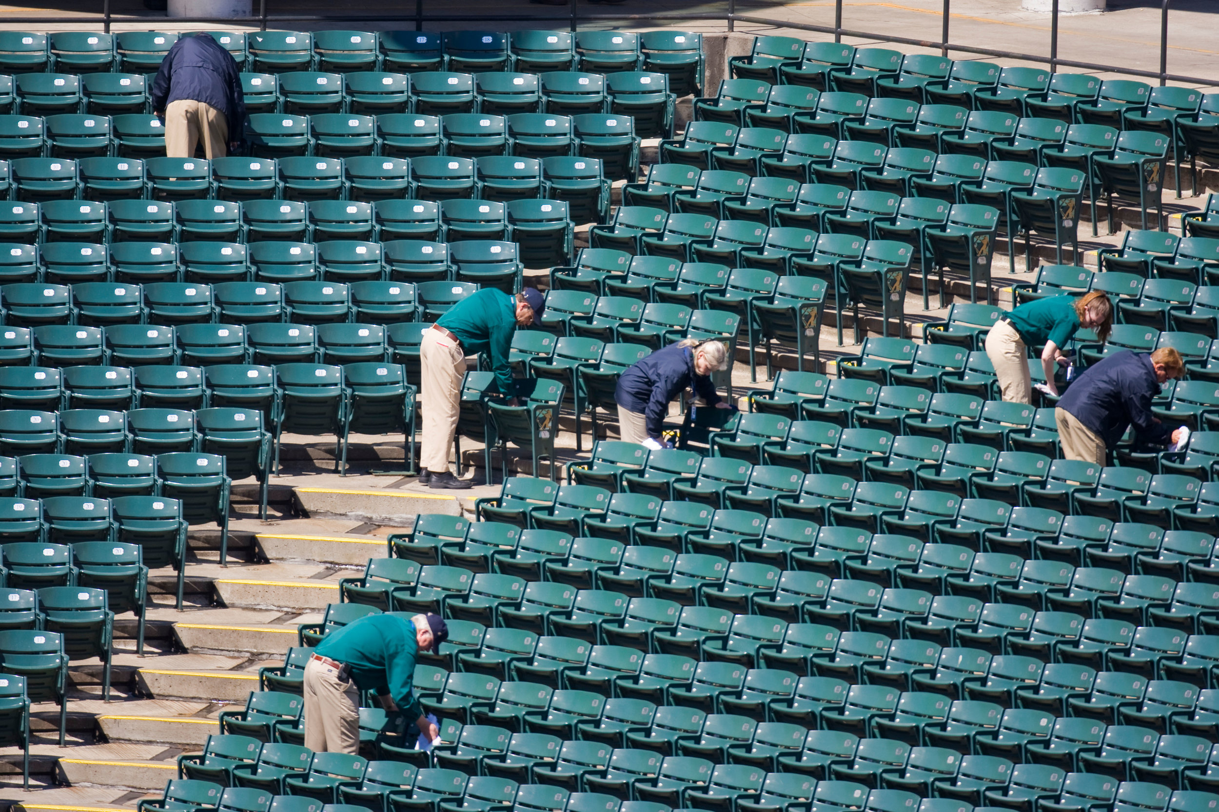 Pre-event Cleaning - - Seat Cleaning- Set Up Trash/Cardboard Removal- Standing Water Removal- After Practice Cleaning- Load-In Porter Service