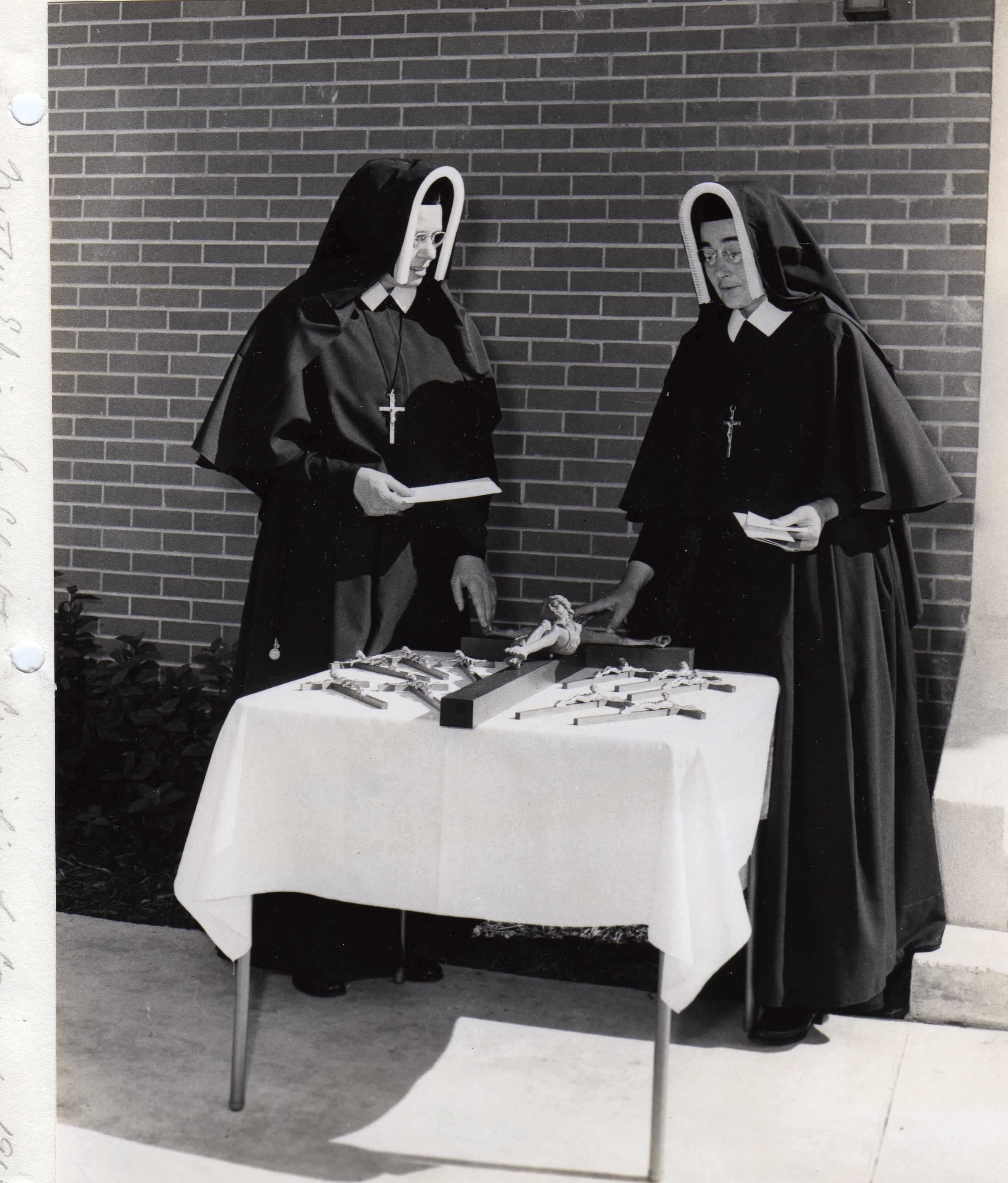 Mother Elise & Sr. Charlita Crucifixes for Convent 1967.jpg