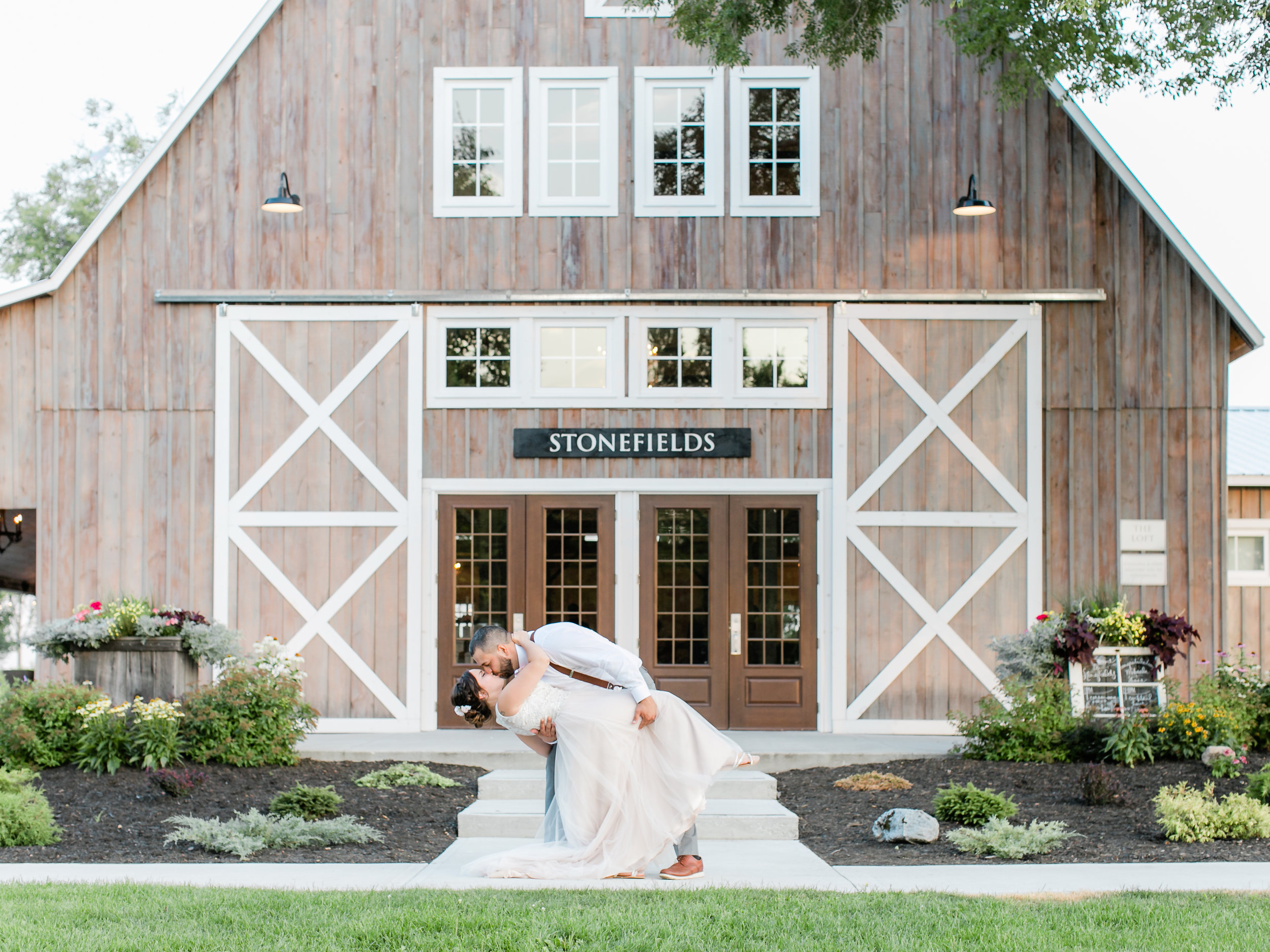 Stonefield's Estate in Carleton Place is a perfect backdrop to a newlywed first kiss
