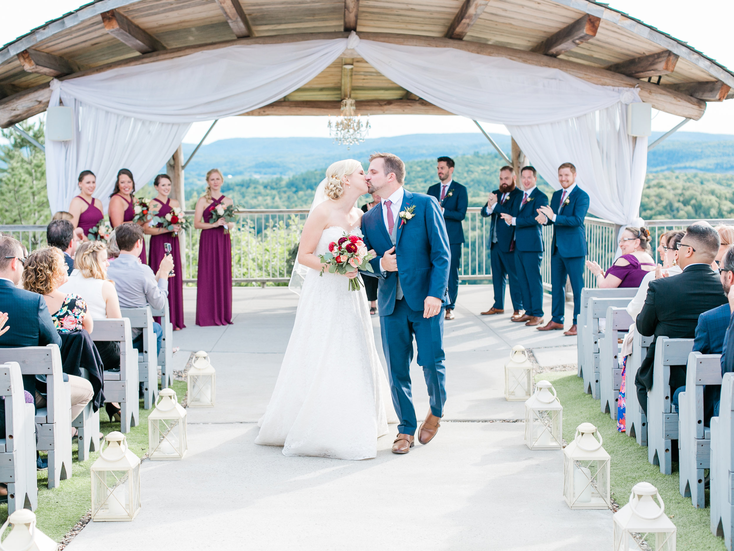 Le Belvedere in Wakefield, Quebec boasts stunning views of the valley to create a gorgeous ceremony