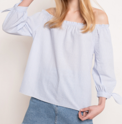 Off the shoulder by Subdued. See more Beauty Features on www.firstandseven.com