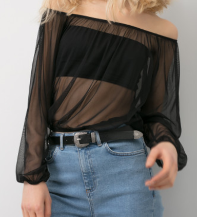 off the shoulder. subdued. See more Style Features and Faves of the Season on www.firstandseven.com