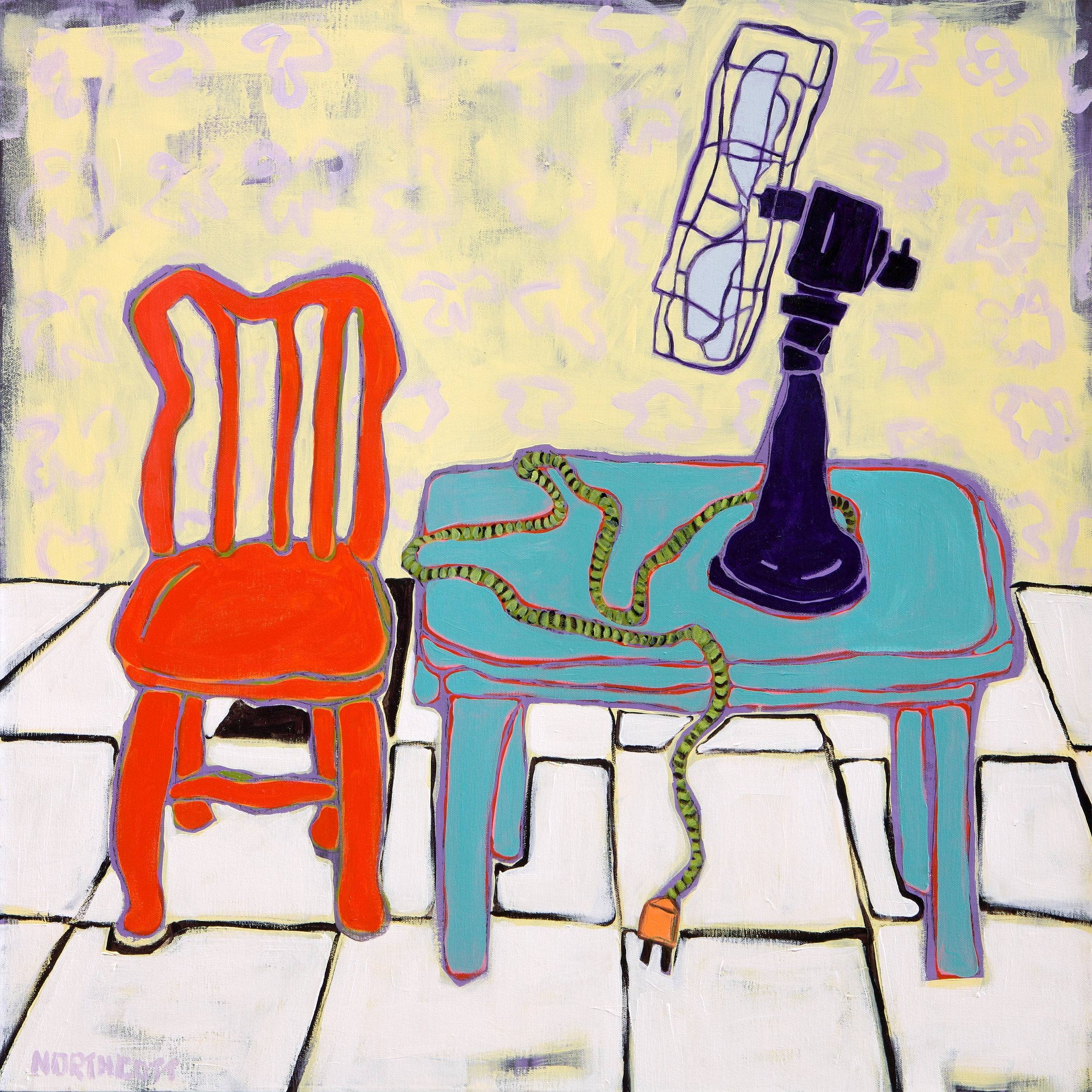 """Cool Red Chair 