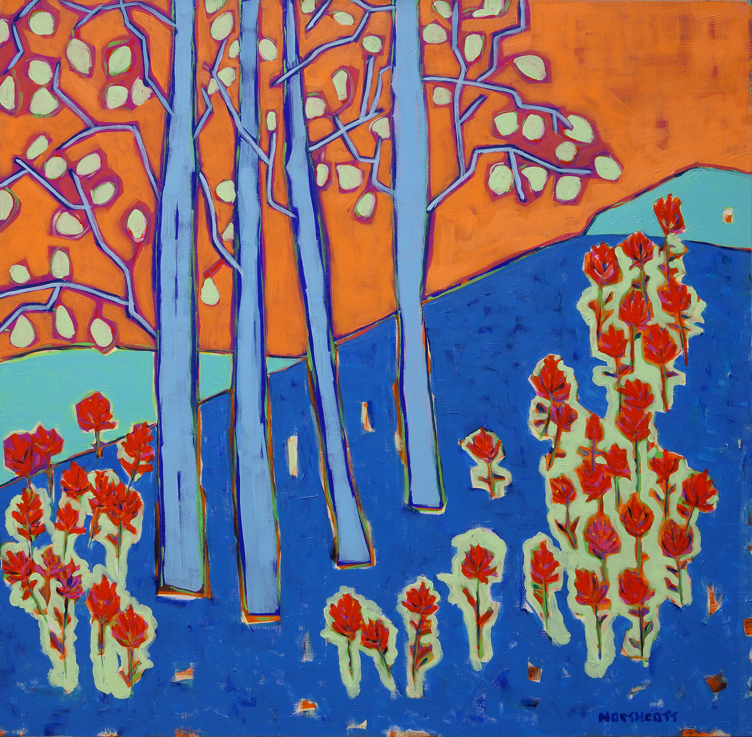 """Blue Hill Paintbrush   30"""" X 30""""   SOLD"""