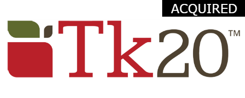 TK20  Initial Investment:  Seed in 2006  Merged with Taskstream in 2017   Watermark acquired by TCV in 2018 Assessment, planning, and reporting solution for colleges and universities.
