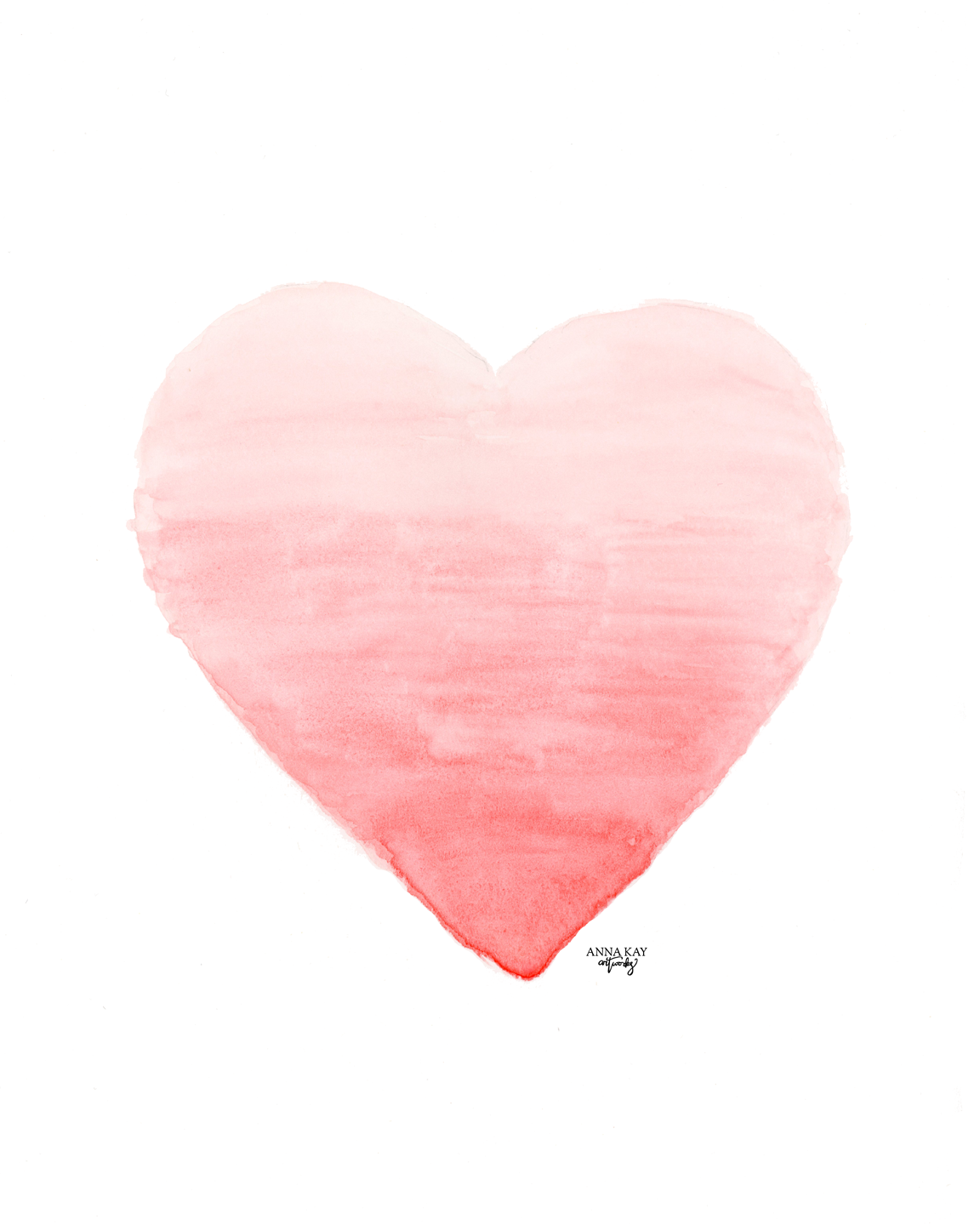 Ombre Watercolor Heart Valentine Card Anna Kay Artworks.png
