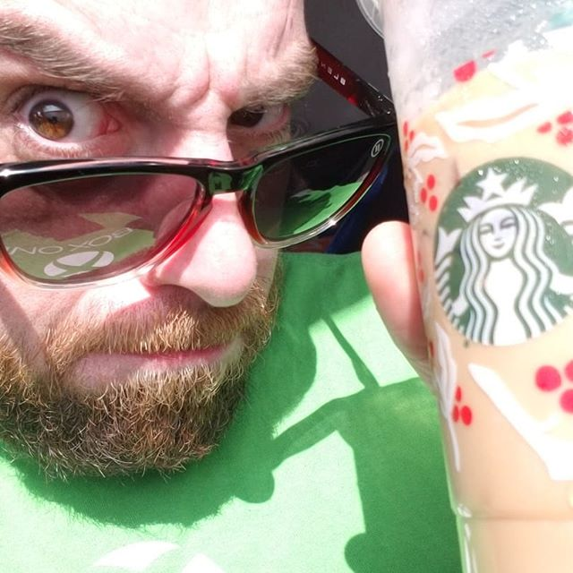"""Go to California...""""we have to get starbucks they say""""...pinnacle of my music career...we made it!? Lmao #starbucks"""