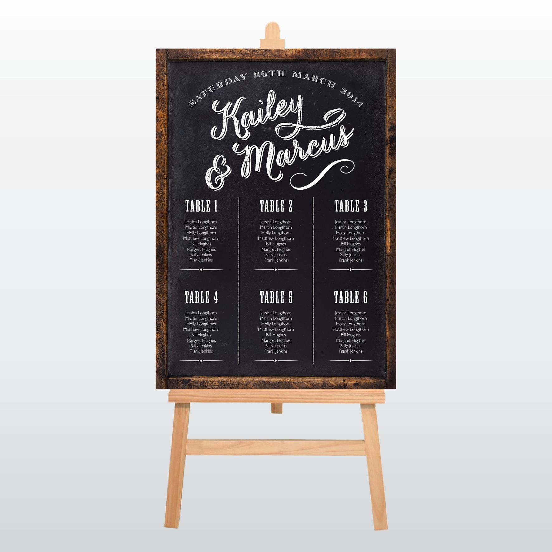 Kailey Table Plan